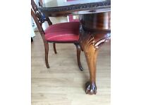 Antique dining table with 8 chairs