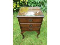 Wooden Bedside Table - Antique/Vintage/Retro furniture