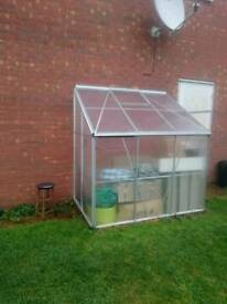Lean to greenhouse green house