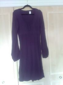 Look Again Dark purple knit smock dress size 18/20 New without tags
