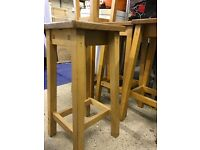Vintage wooden stool set made of teak