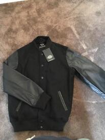 Dickies Jacket leather sleeves size large