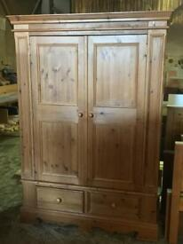 Very good condition extra large pine solid wardrobe £150 price