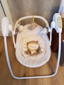 """Mothercare """"loved so much"""" baby swing - Like new"""