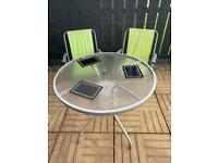 Round Outdoor Garden Table With Chairs