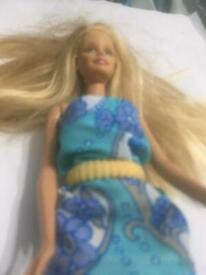 Doll in a blue dress