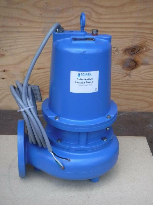 New GOULDS WATER WS2012D4 Manual Submersible Sewage Pump 2HP 230V FAST SHIP