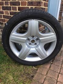 Genuine Bentley alloy wheel and tire only one ok