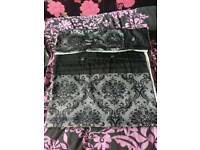 Single black and grey duvet set