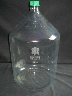 Kontes Ultra-ware 20l Plastic-coated Glass Hplc Reservoir Gl45 Screw Cap