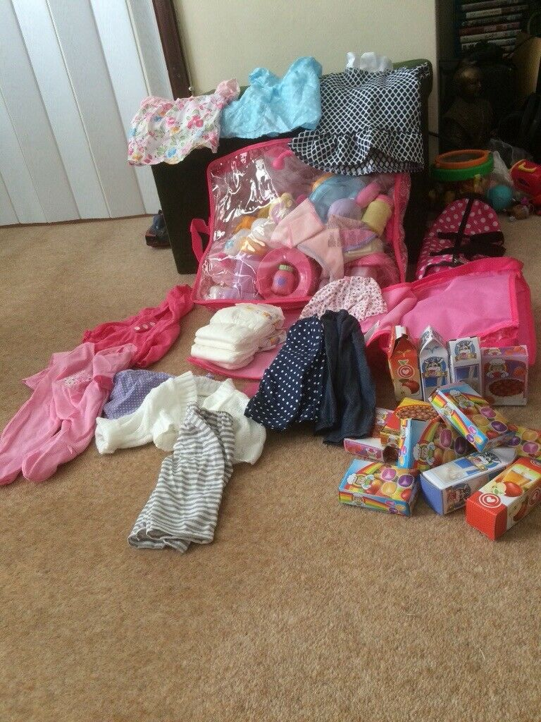 Baby Doll Outfits Play Food Nappies Many Accessories And Changing Bag In Kidlington Oxfordshire Gumtree