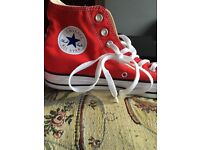 Converse Boots size 7 1/2. Red. Brand new and never worn. Stretford £20 no offers.