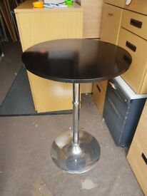 Black wood effect bar table / round black cafe table 600mm