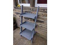 3 tier Garden planter flower ladder shelves - grey