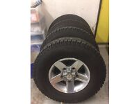Landrover Defender diamond cut alloys with tyres, as new