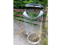 Old wire dustbin