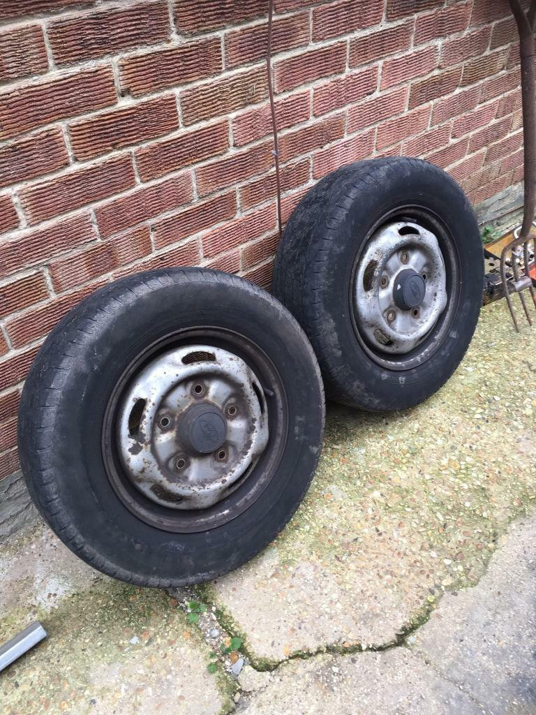 Two 15' Transit Wheels With Tyres (Quite Worn)