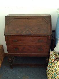 Solid wooden buero / sideboard / writing desk