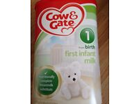 cow and gate 1 infant new never opened £5