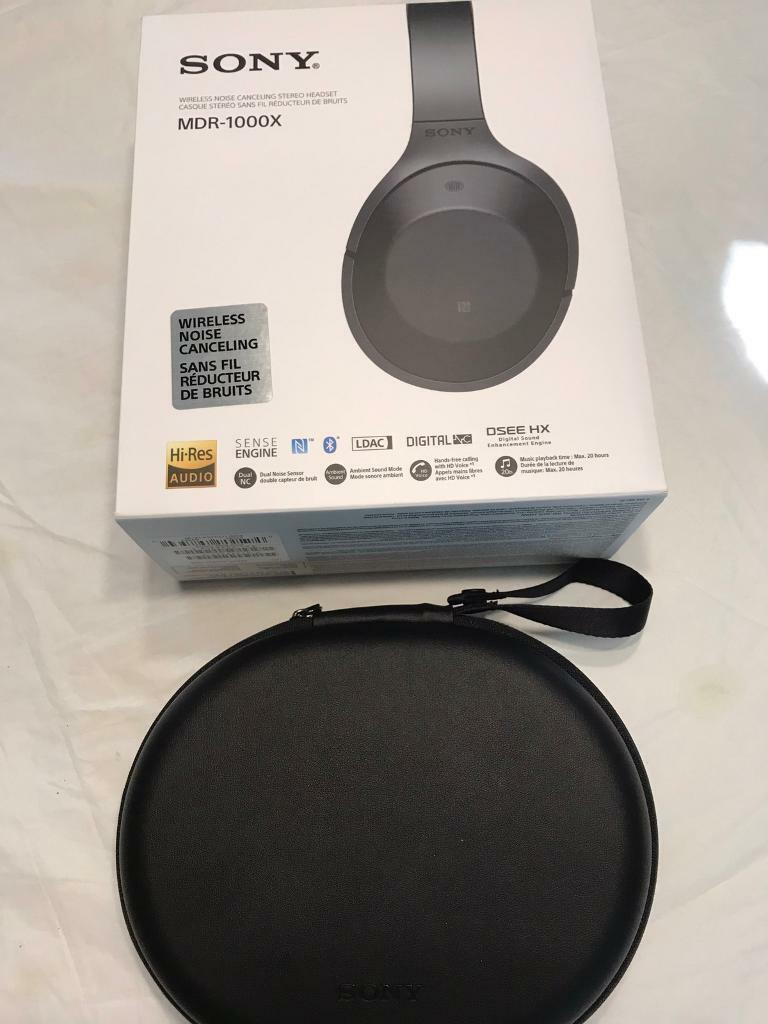 Sony MDR-1000X Wireless Bluetooth Noise Cancelling High Resolution Headphone - Black