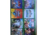 Xbox one as new in box including 9 games