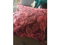 Pink flower cushion