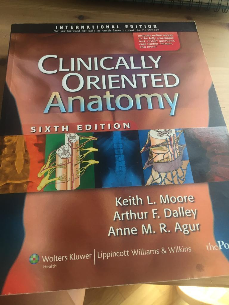 Clinically Oriented Anatomy (Moore, Daley and Agur) | in Cardiff ...