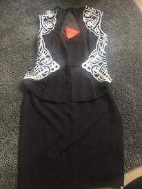 Lipsy dress new with tags black 12