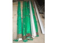 White Square GUTTERING UNUSED 120 Meters - 4 Meter Lengths (30 Lengths) Square Inline (114mm x 60mm)