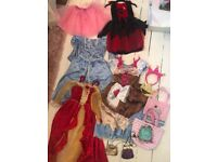 LARGE BUNDLE GIRLS DISNEY DRESS UP OUTFITS.MONSOON BAGS X 4 plus more! £20! Brentwood