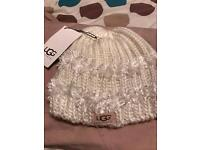 White ugg hat new