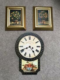 Pastimes Wall-clock and pictures
