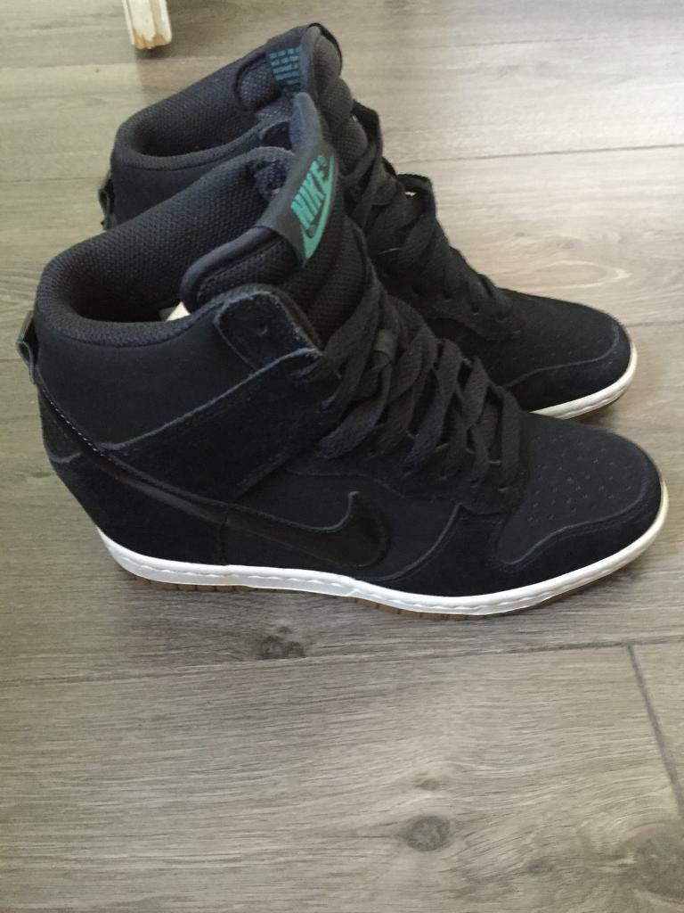 6d8315f66915 ... promo code for nike dunk sky hi black suede leather size 5 81c36 cff27
