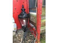 vintage victorian style black metal light lamp garden pub