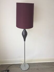 Purple, crackle floor lamp. Bought from Next. Excellent condition