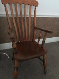 Pine armchair - antique
