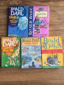 Roald Dahl books x 5