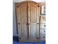 Solid wood (pine) wardrobe