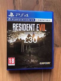 resident evil 7 biohazard , ps4 , as new ! price stands , no offers !