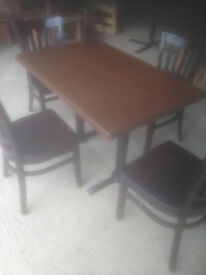 Rectangular Cafe/Bistro Dining Table (2 Available, Chairs not included)