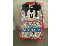 Mickey Mouse childs luggage/cabin case New