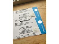Jay Z and Beyonce 6 East standing and 2 west standing tickets call only. 07508002826.