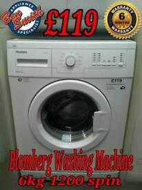 Blomberg Washing Machine 6kg 1200 spin White
