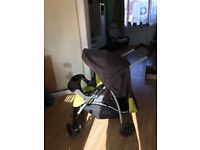 Graco travel buggy with car seat/stand