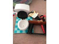 Slap ninja and toilet flush game