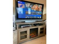 Tv stand with fireplace for sale