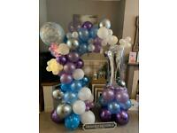 Beautiful Balloon Arch & Age Display (free Delivery)