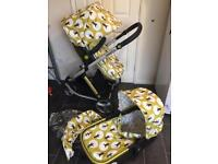 cosatto giggle 2 treet 2in1 pram pushchair travel system buggy stroller carry cot boy girl 3 wheels