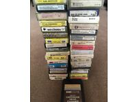 8 Track Player, large collection of tapes and cleaning cartridge