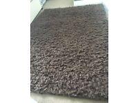 Mix wool rug brown
